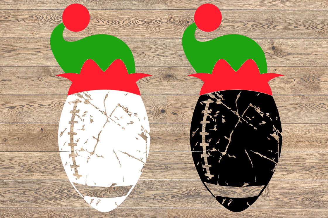 Football Christmas Hat svg Elf sweater Elf sweater 1048s example image 2