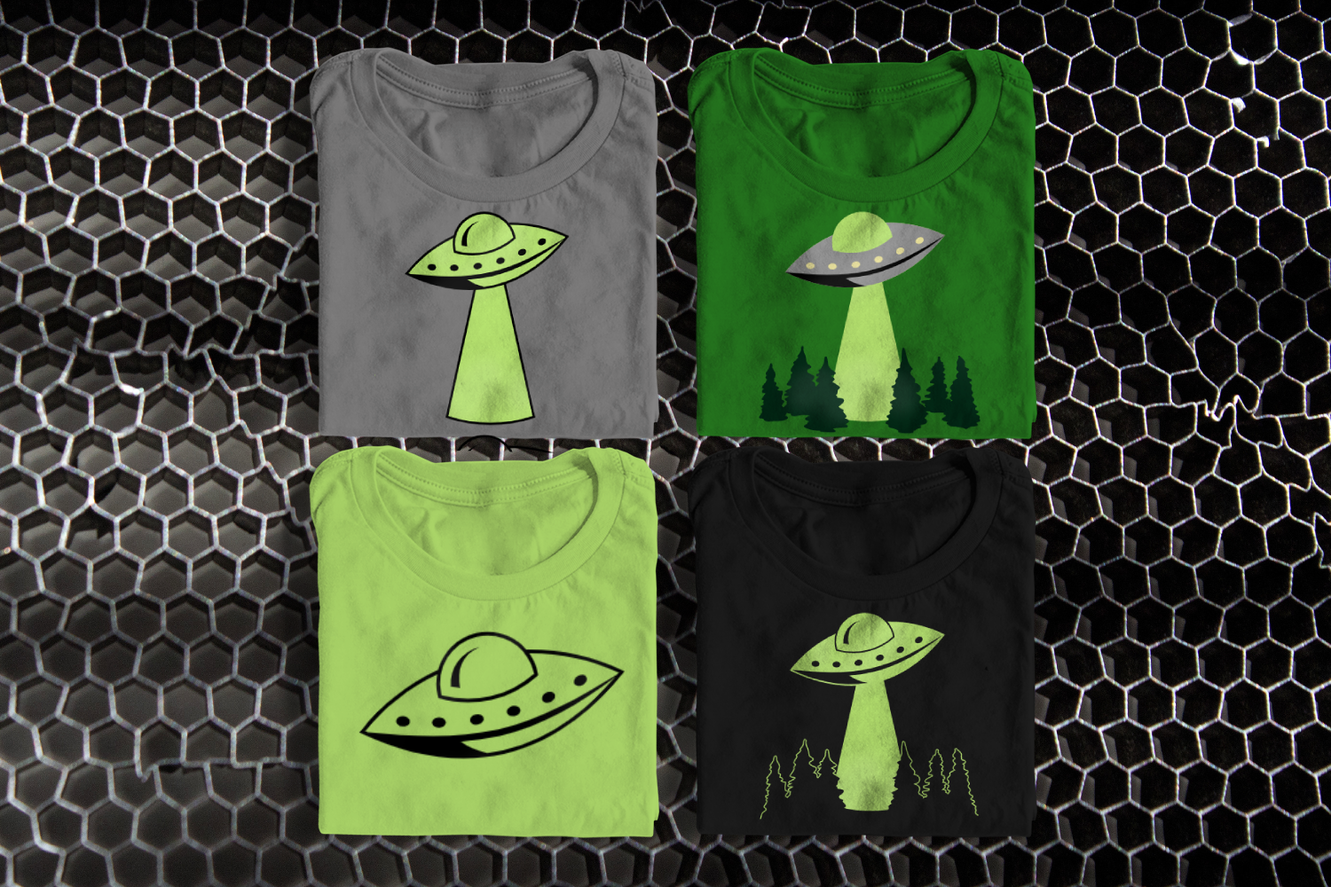 UFO Abduction SVG File example image 1