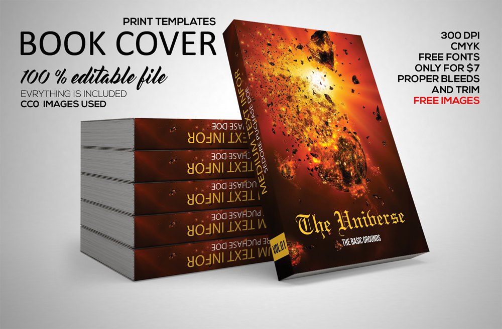 Book Cover Template example image 1