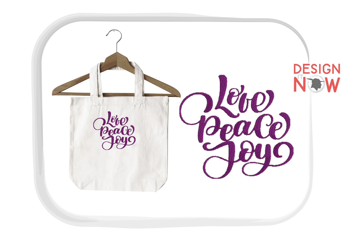 Love Saying Embroidery Design, Peace Embroidery Art example image 4