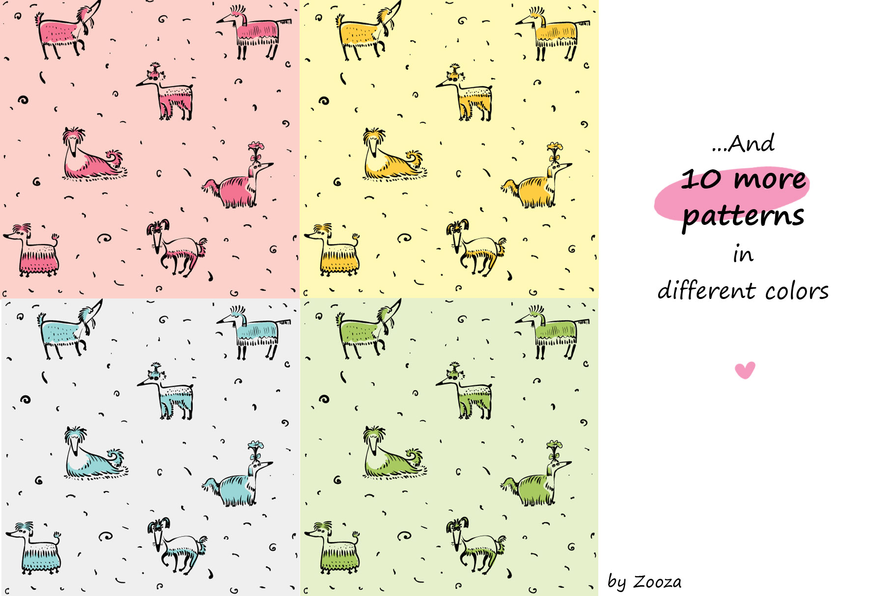 Little Serious Dog - patterns and clip-art example image 3
