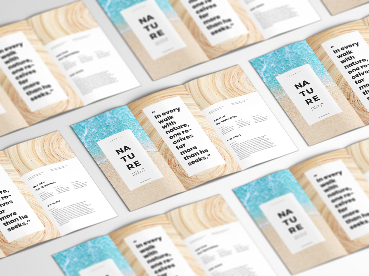 A4 Trifold Mockups V3 example image 14