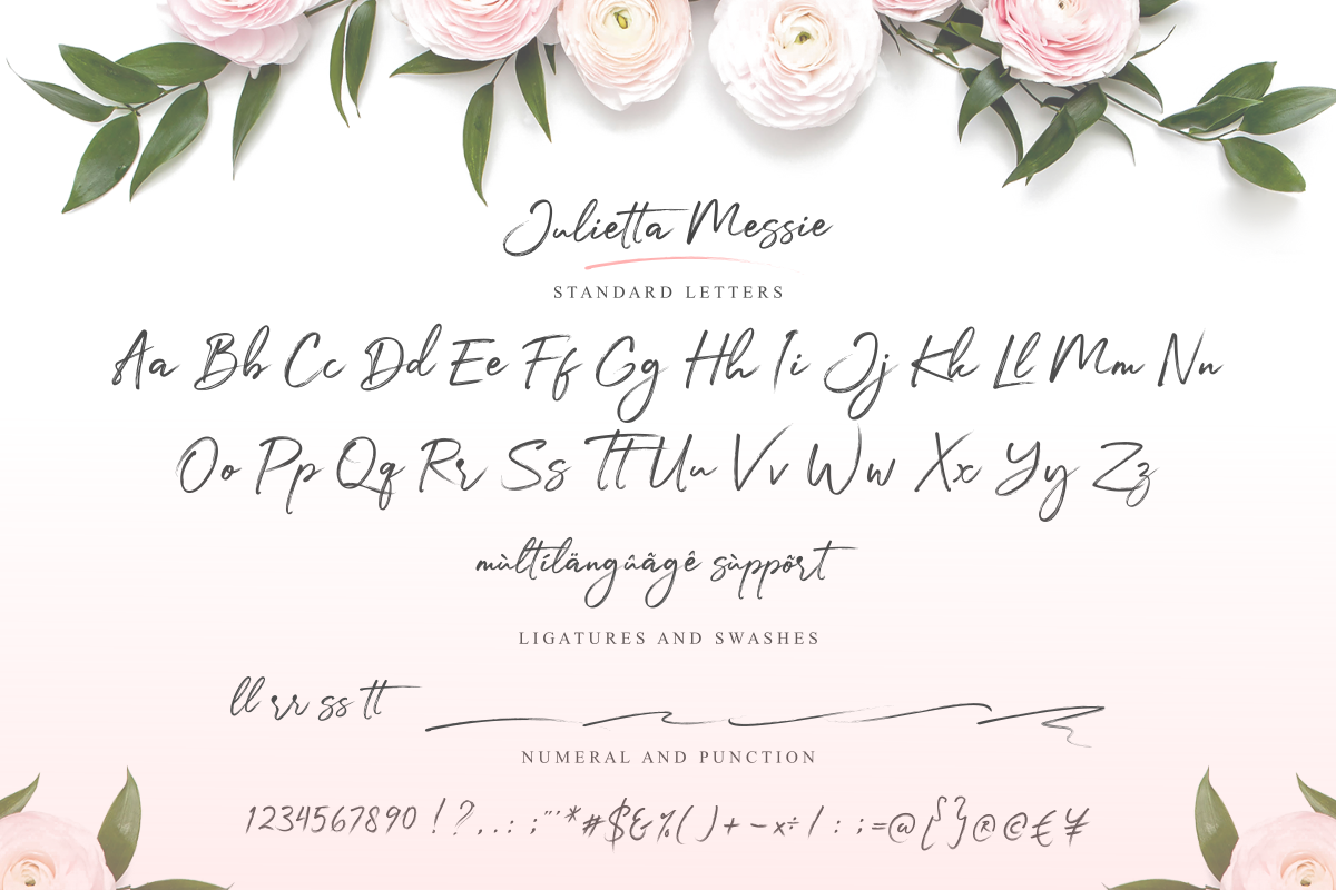 Julietta Messie   Brush Script example image 9