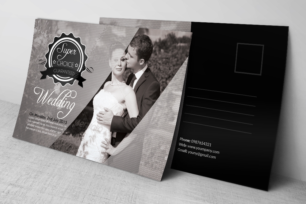 Wedding Invitation Postcards example image 2
