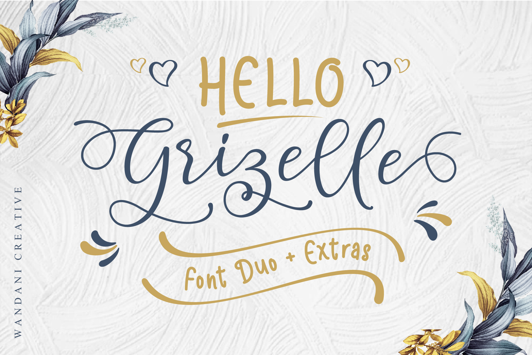 Hello Grizelle Font Duo example image 1
