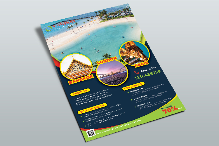 Travel Agency Flyer Template example image 3