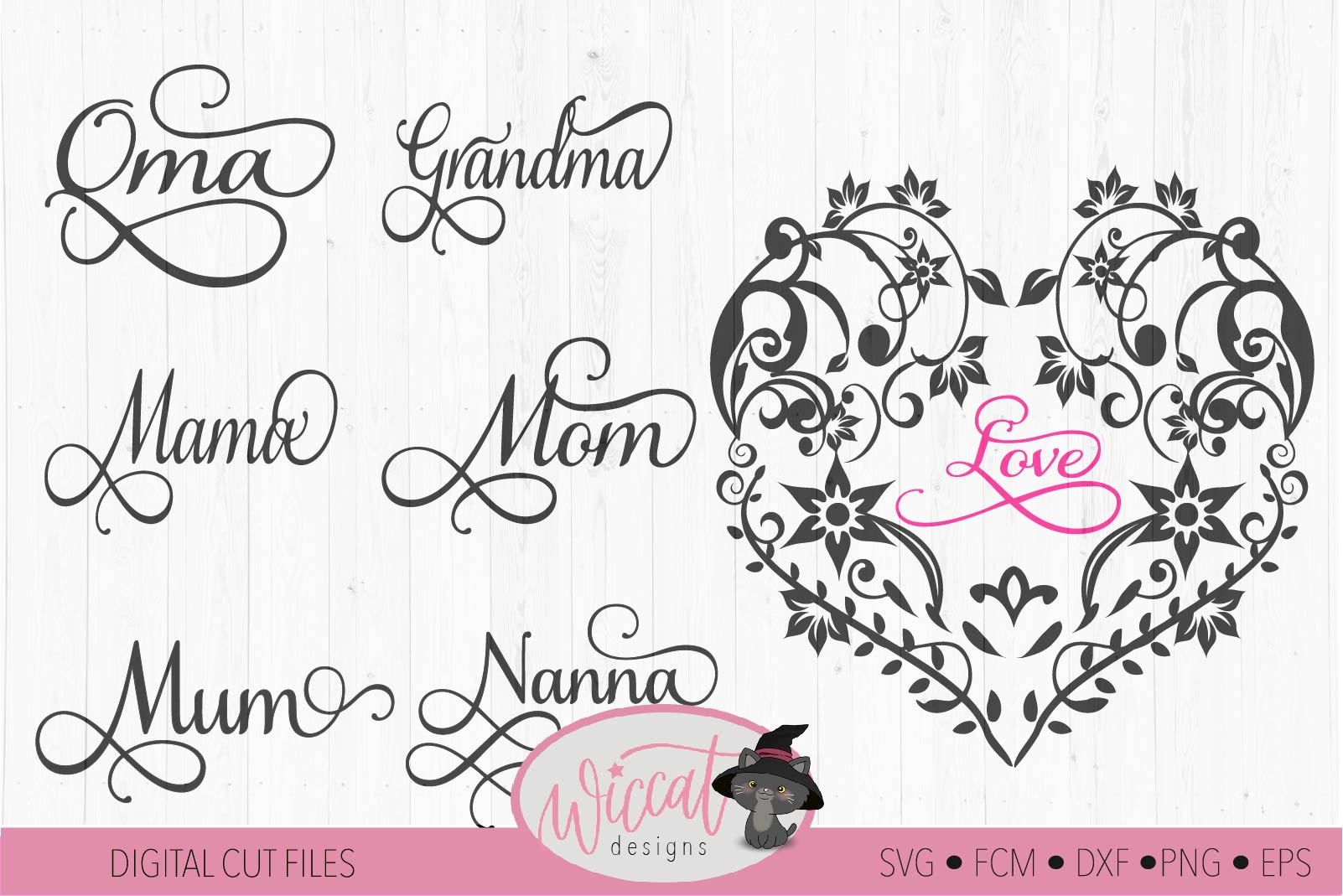 Flower heart svg, mothers day, lace cut file, glass block example image 2
