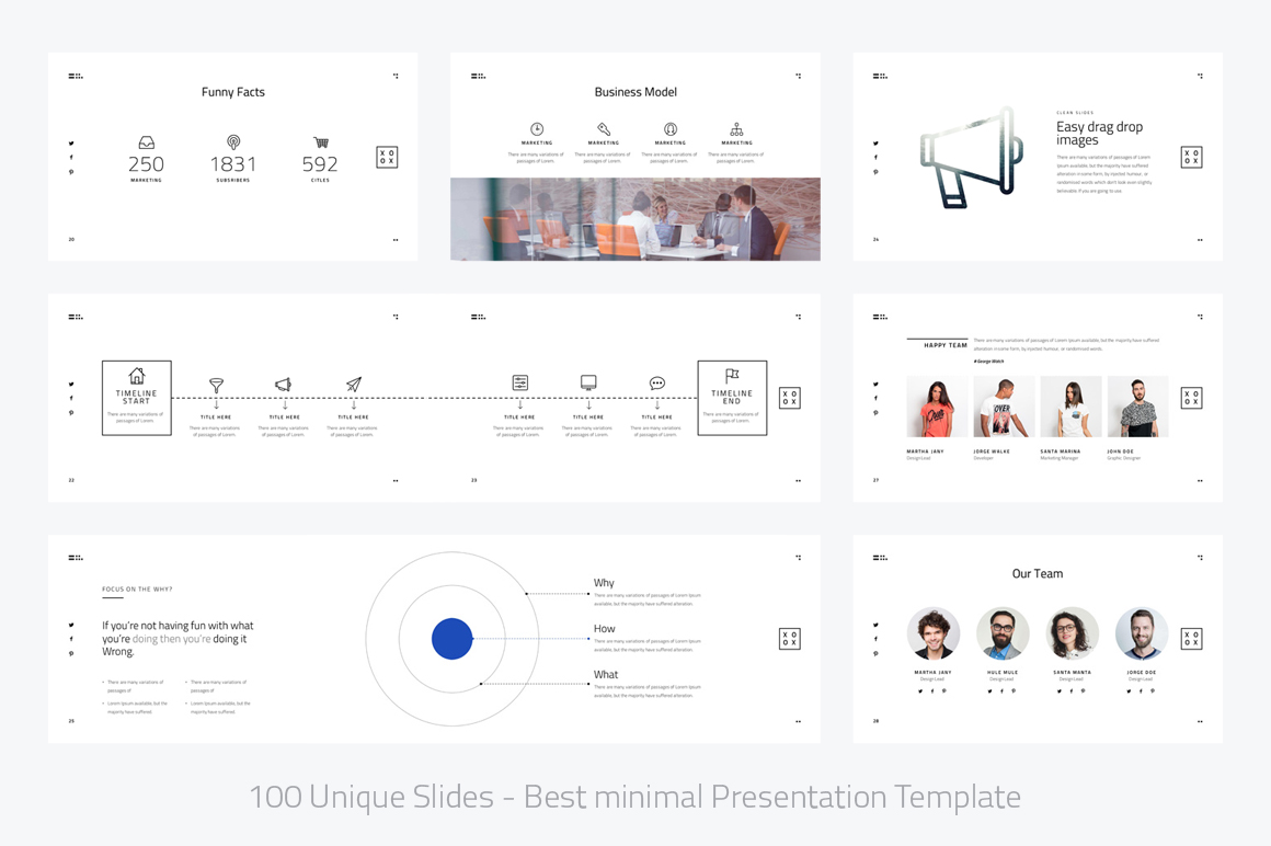 XOXO-Minimal Powerpoint Template example image 4