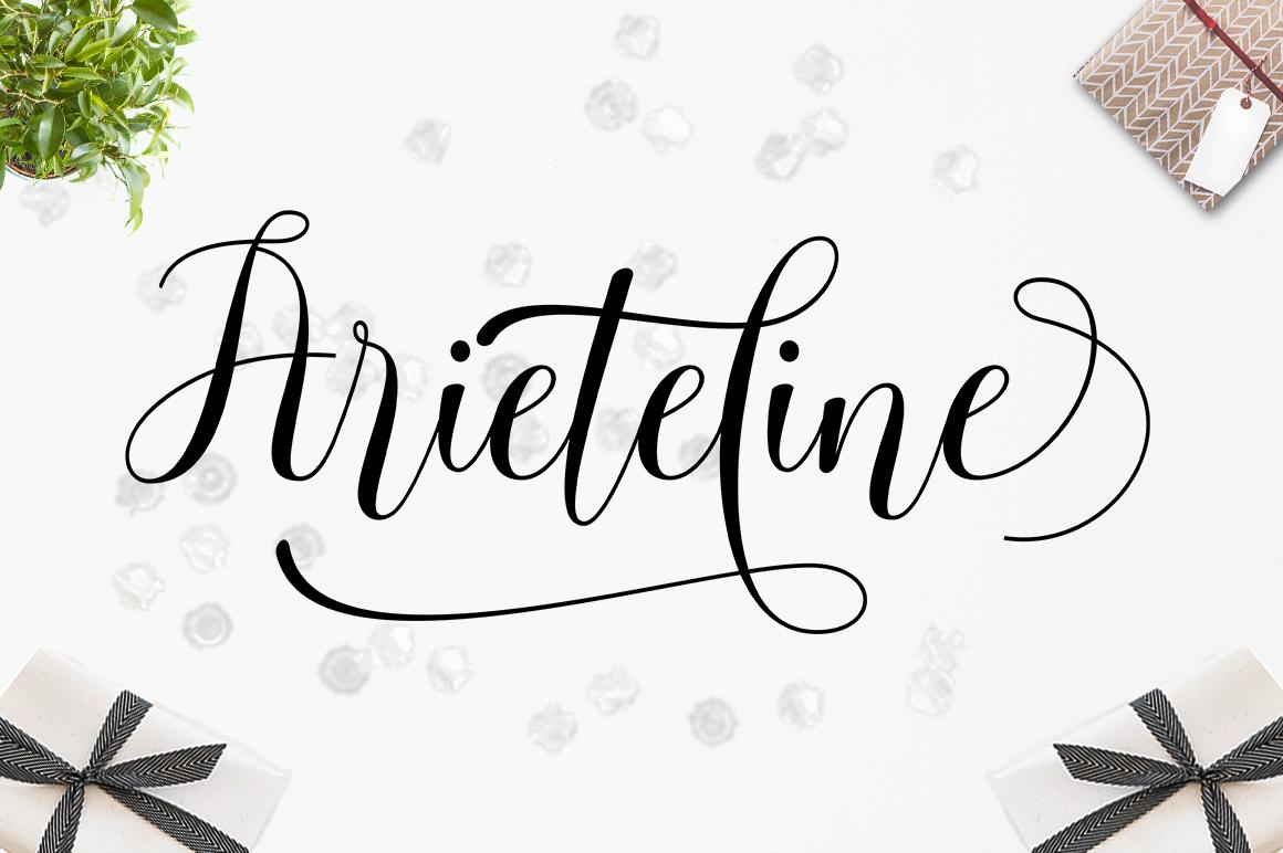 Arieteline Script example image 7