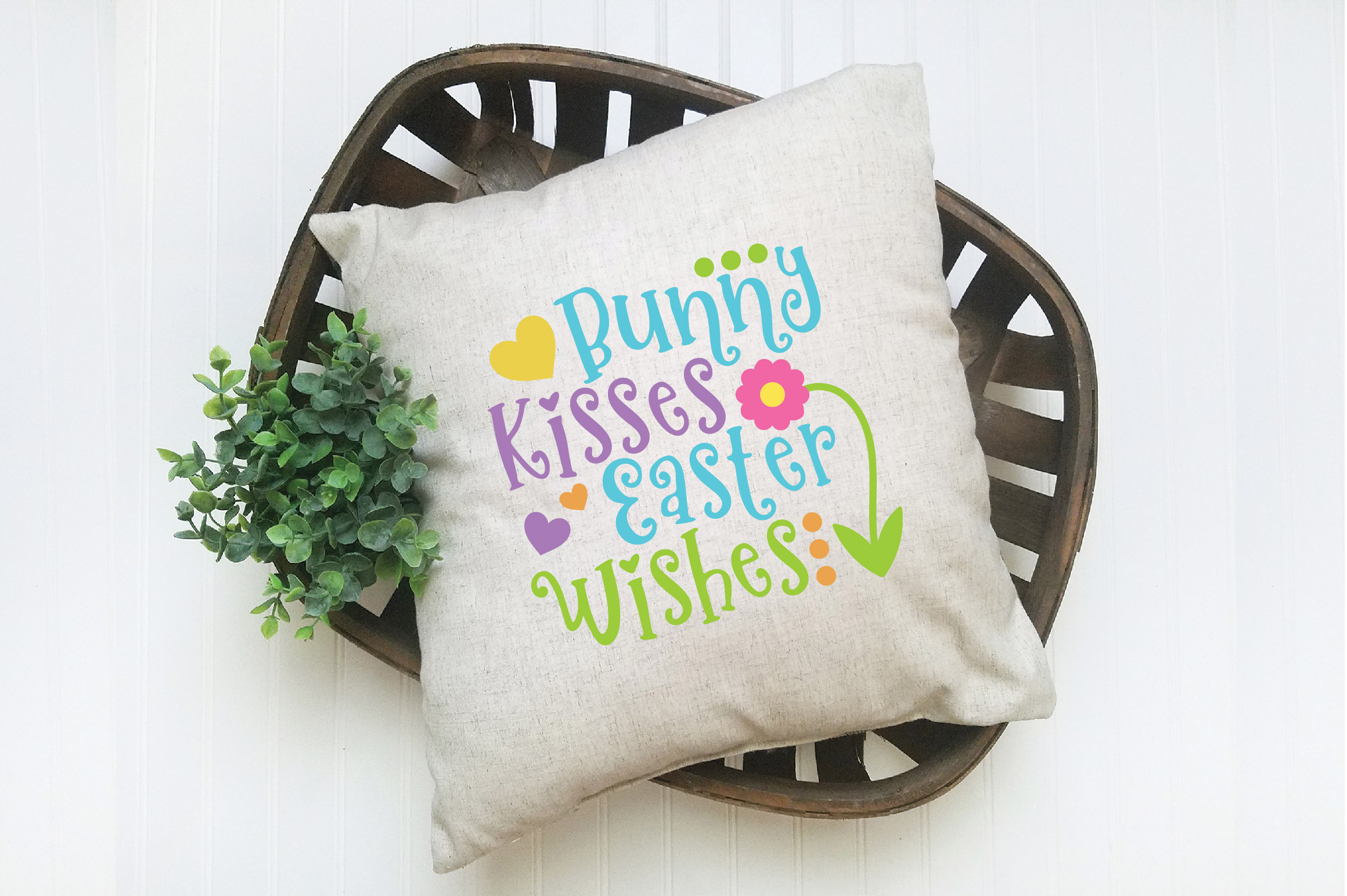 Easter SVG Cut File - Bunny Kisses Easter Wishes SVG DXF EPS example image 5