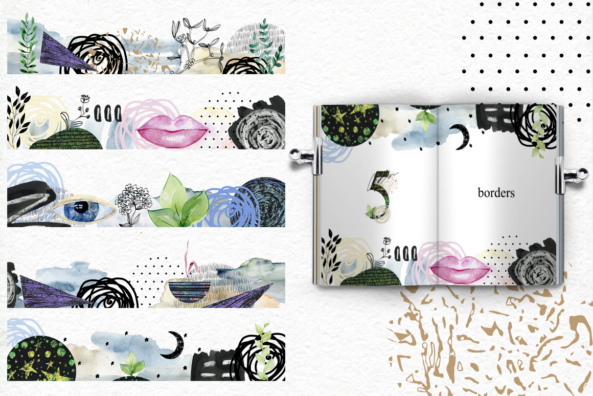 Abstract and floral collection. example image 5