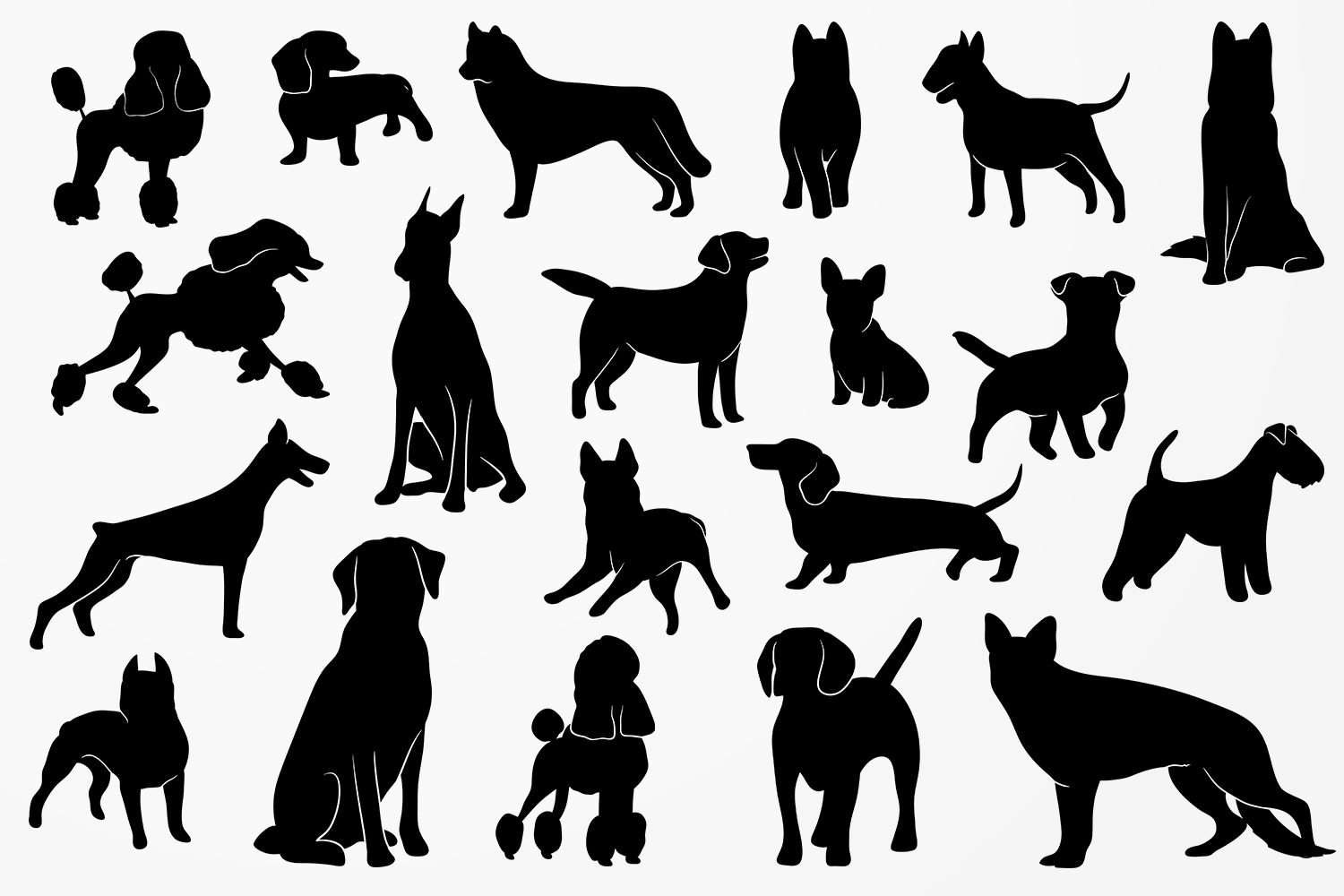Dog Silhouettes example image 2