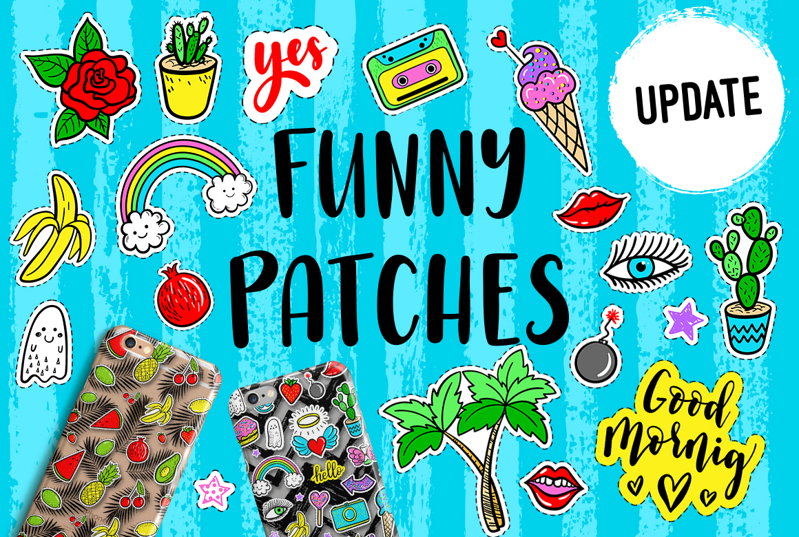 100 Funny patches 27 patterns example image 1