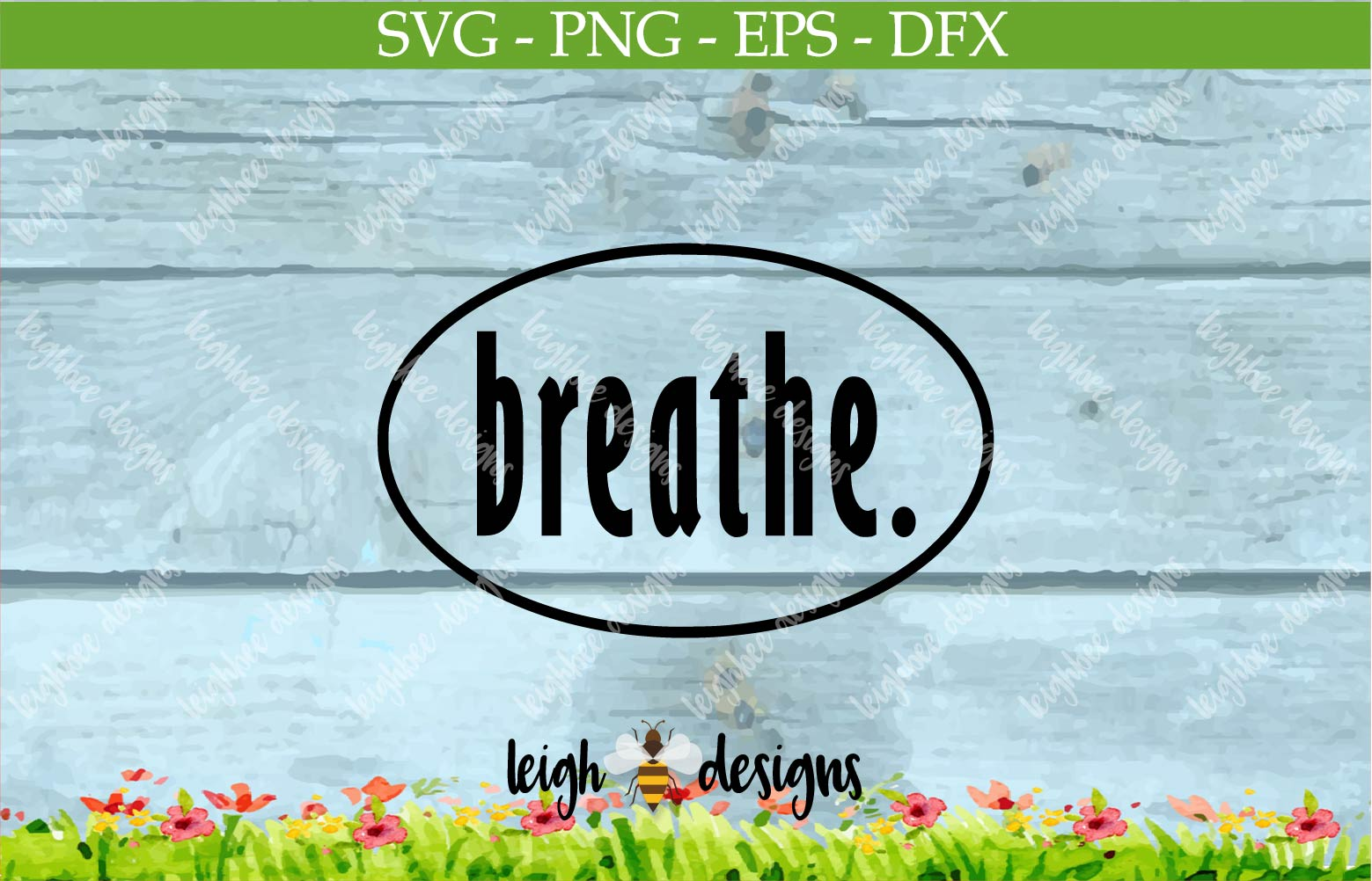 Breath Oval SVG/DFX/PNG/EPS File  example image 3