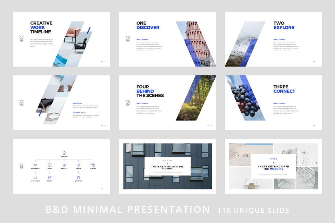 B&D-Powerpoint & Keynote Template example image 9