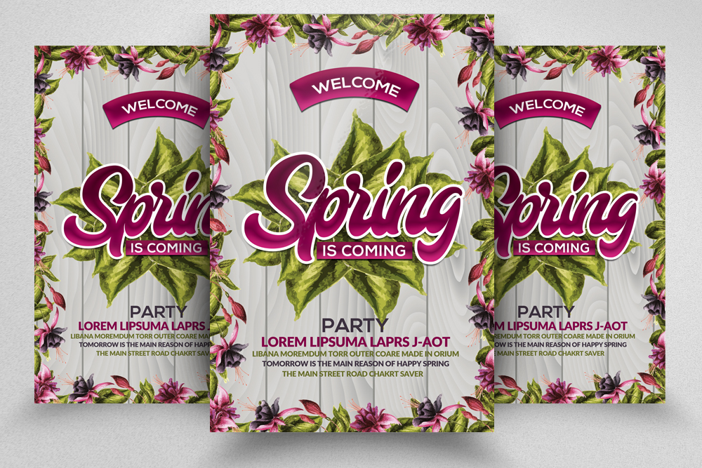 Floral Spring Flyer Template example image 1