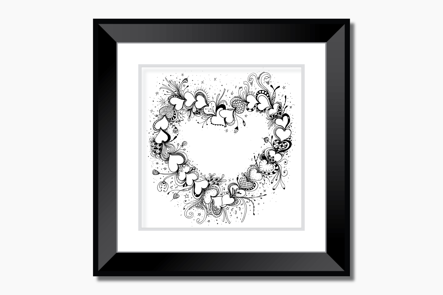 Doodle Heart Artwork, A1, SVG example image 5