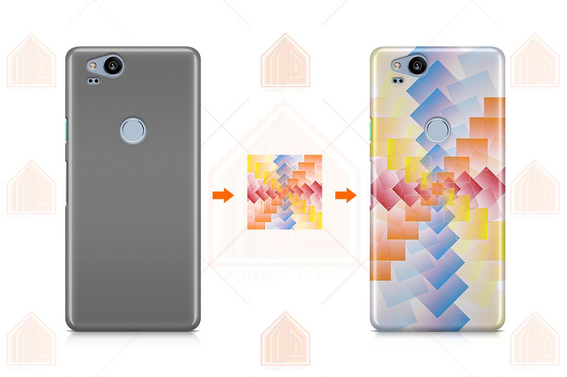 Google Pixel 2 3D Case Design Mockup Back View example image 3