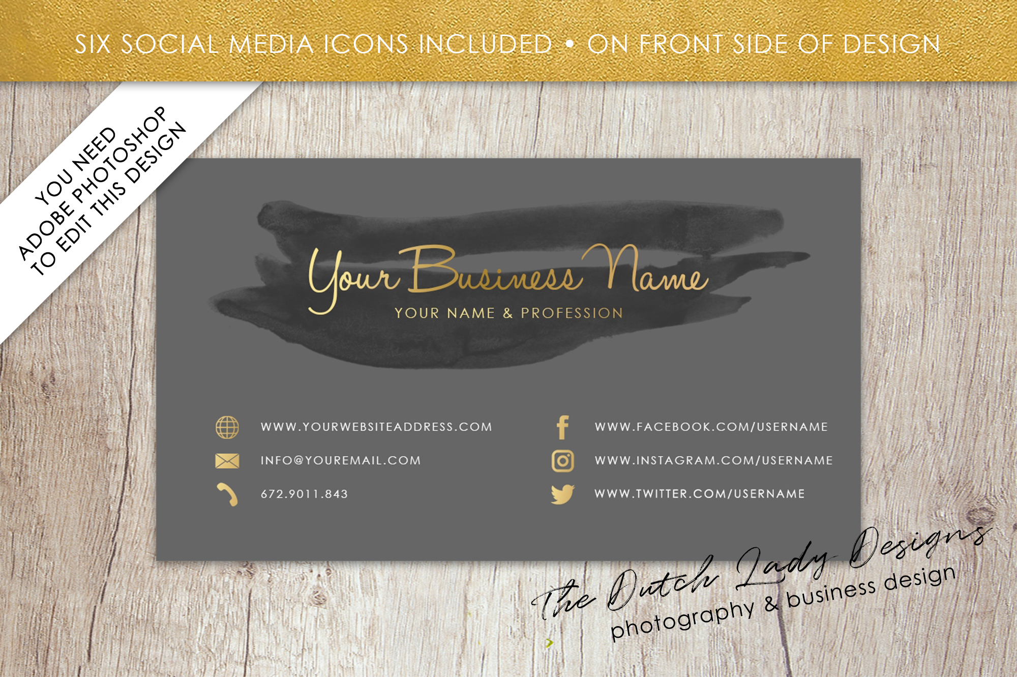 Business card template for adobe photos design bundles business card template for adobe photoshop layered psd template design 10 example image reheart Choice Image