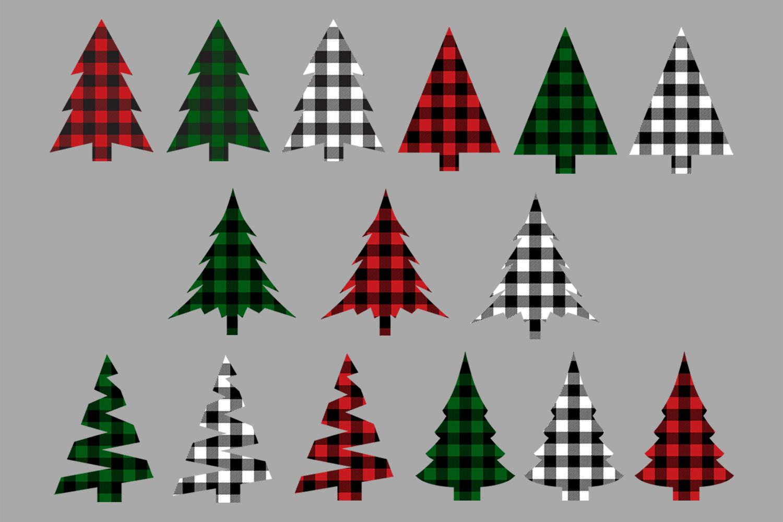 Christmas Tree Buffalo Check Plaid Bundle example image 2