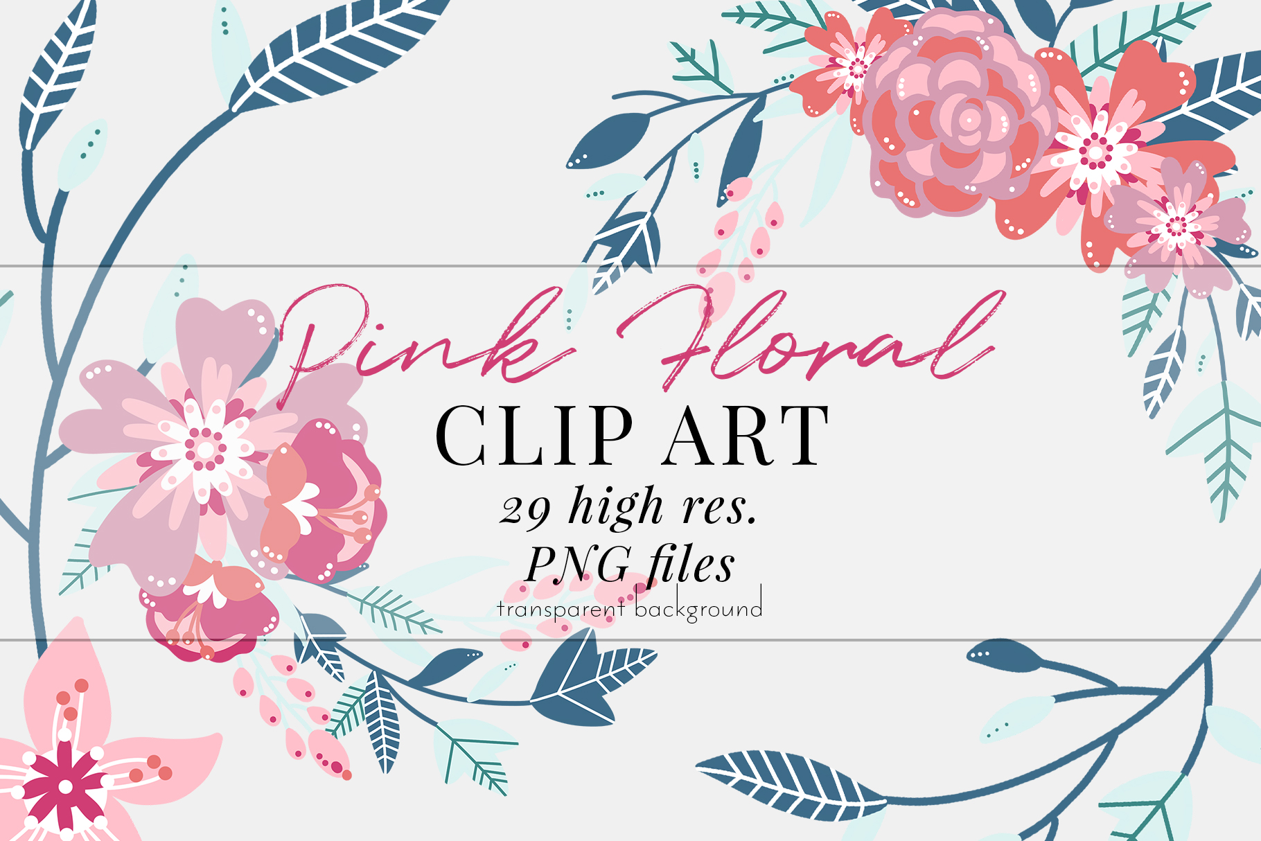 Pink Floral Clip Art Pink Blush Bouquets Scrapbooking Png