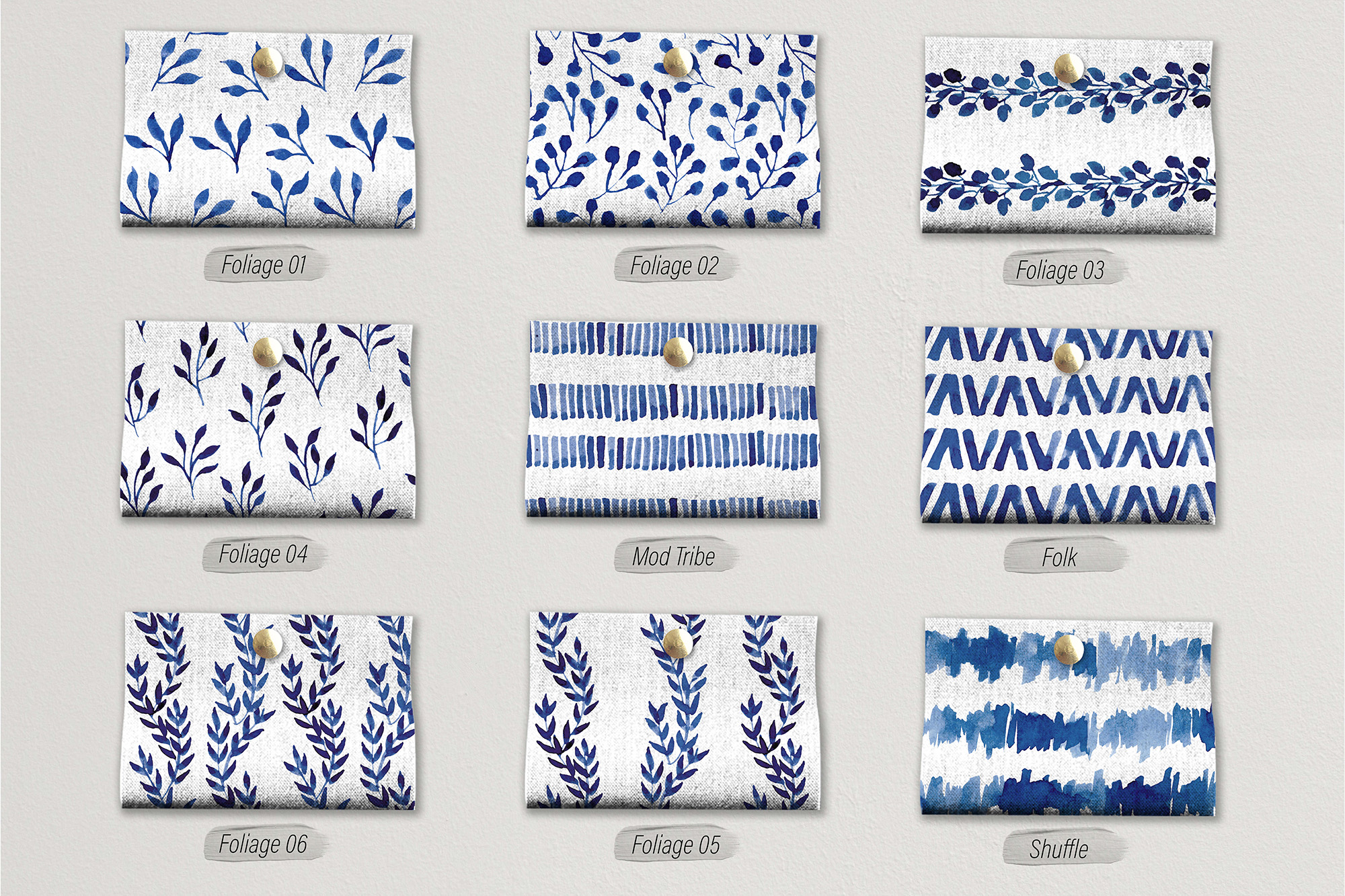 Blueberry Watercolor Pattern Collection example image 4