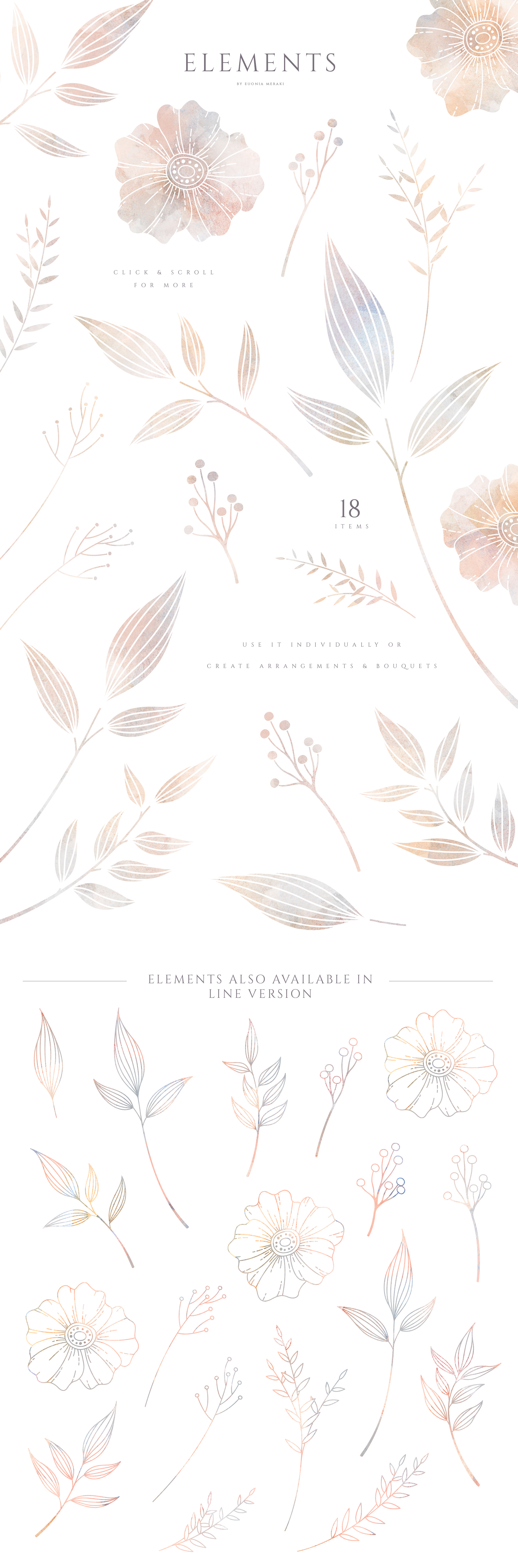 MISTY Dusty Floral Graphics and Monograms example image 5