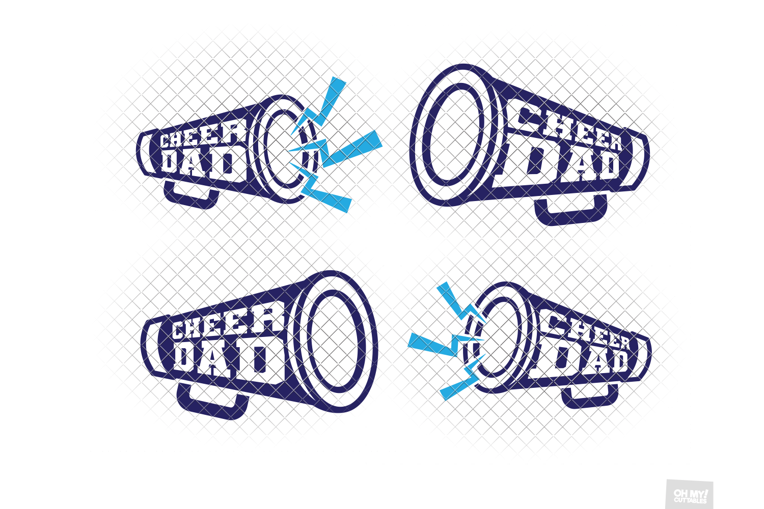 Cheer Dad SVG in SVG, DXF, PNG, EPS, JPG example image 2