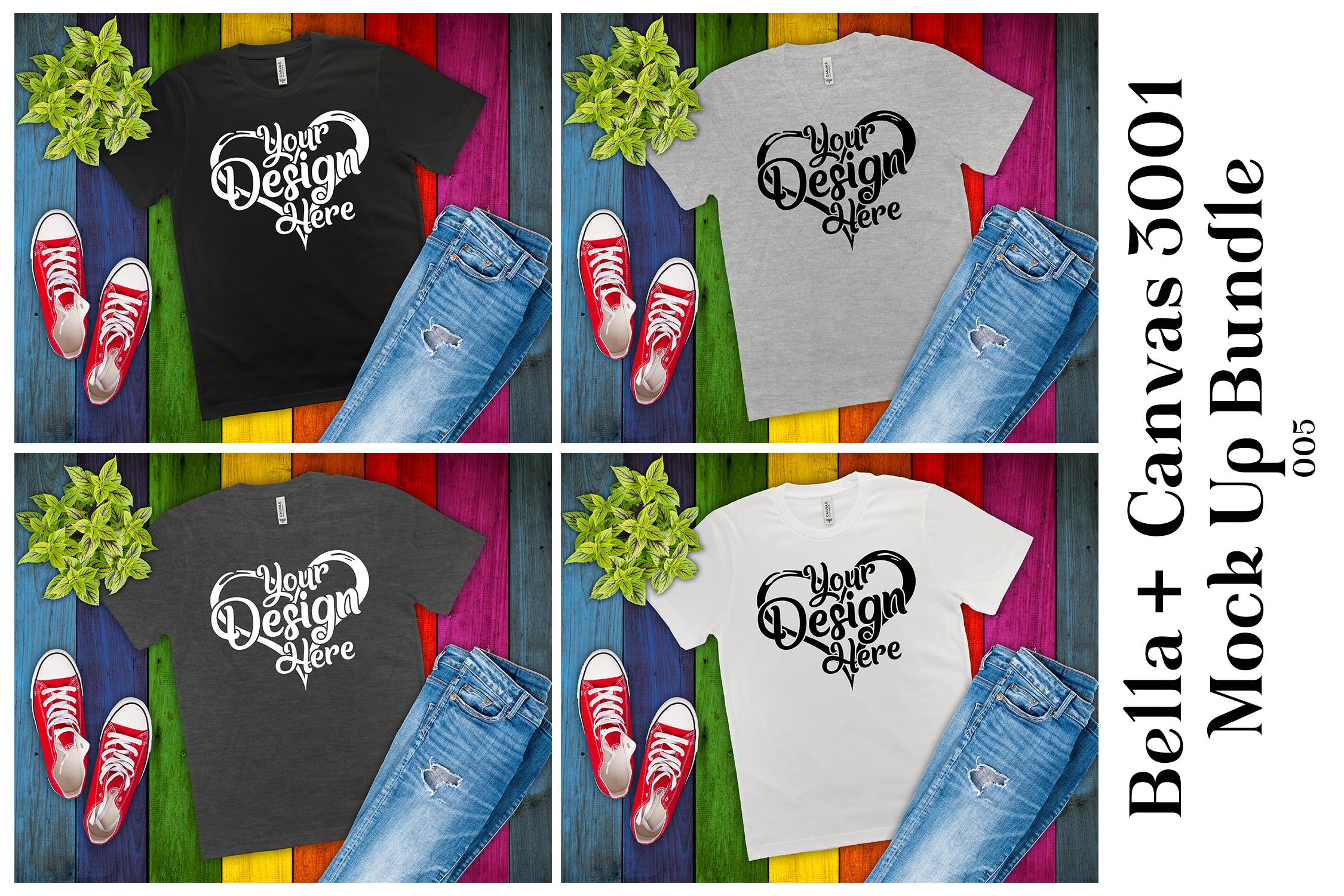 161 Bella Canvas 300 Mockups Mega Bundle Flat Lay T-Shirts example image 8