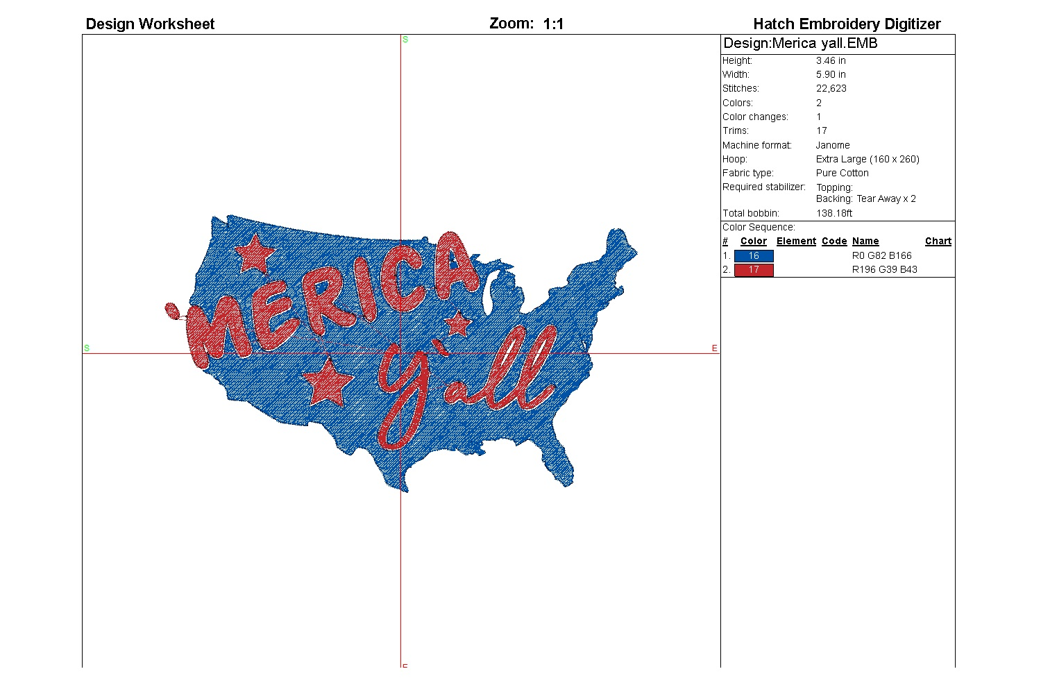 Merica yall| Independence day | Machine embroidery| example image 4