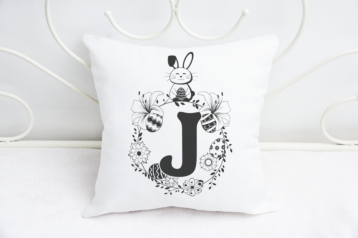 The Bunny Hop - Cute Easter Monogram Font example image 4