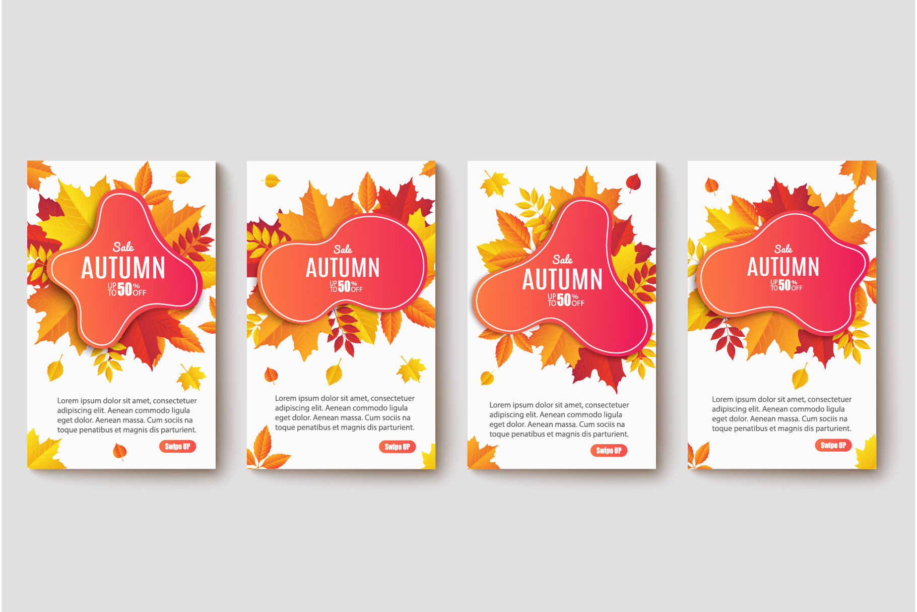 Autumn Sale. Abstract Banners example image 2