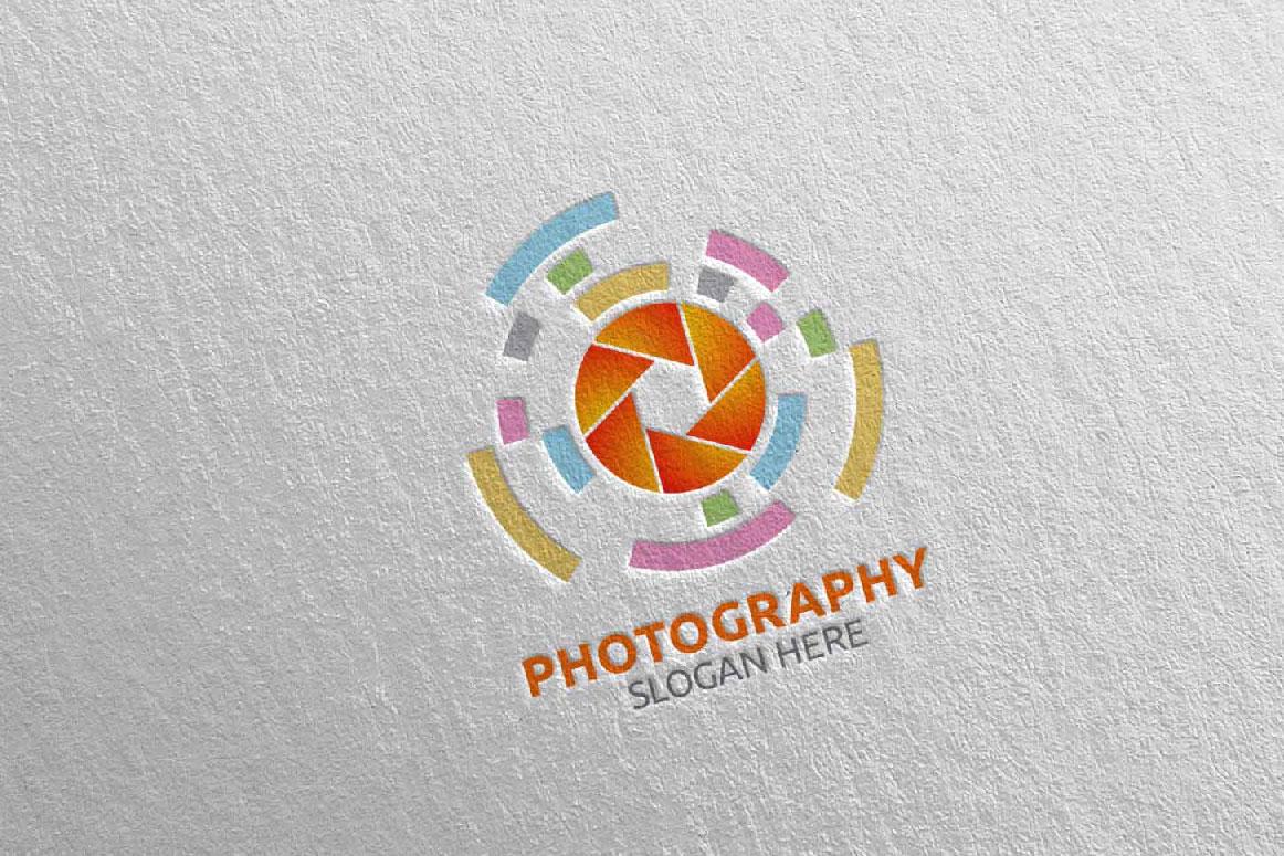 Abstract Camera Photography Logo 16 example image 2