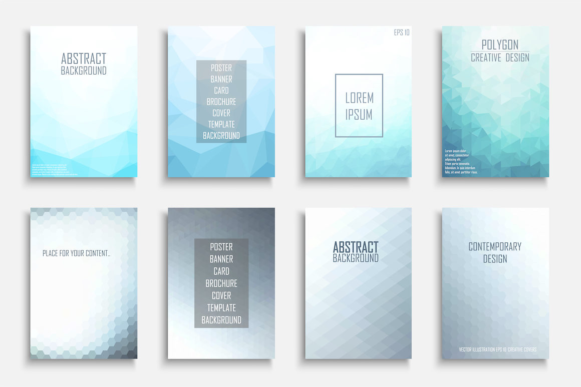 Polygonal geometric color brochures example image 1