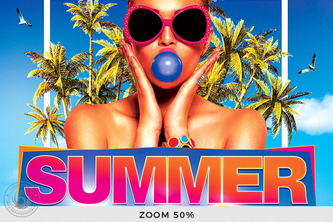 Summer Beach Flyer Template V4 example image 7