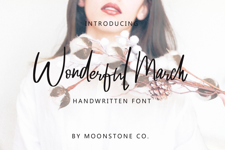 Wonderful March Handwritten Font example image 1