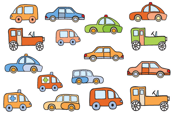 Toys vector buildings and cars example image 3