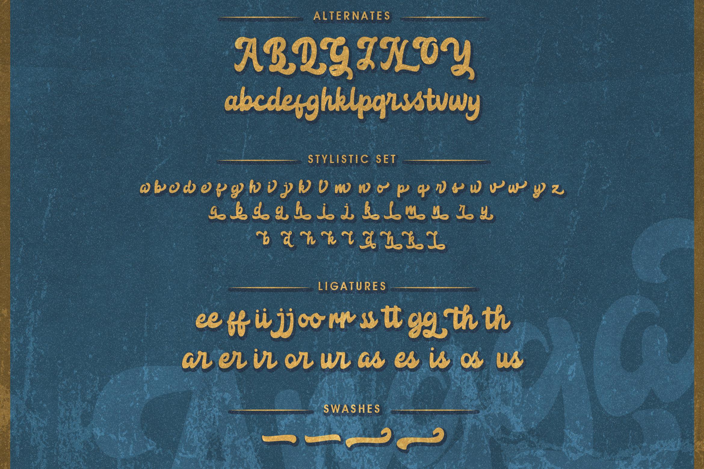 Anggada - Vintage Script Font example image 10