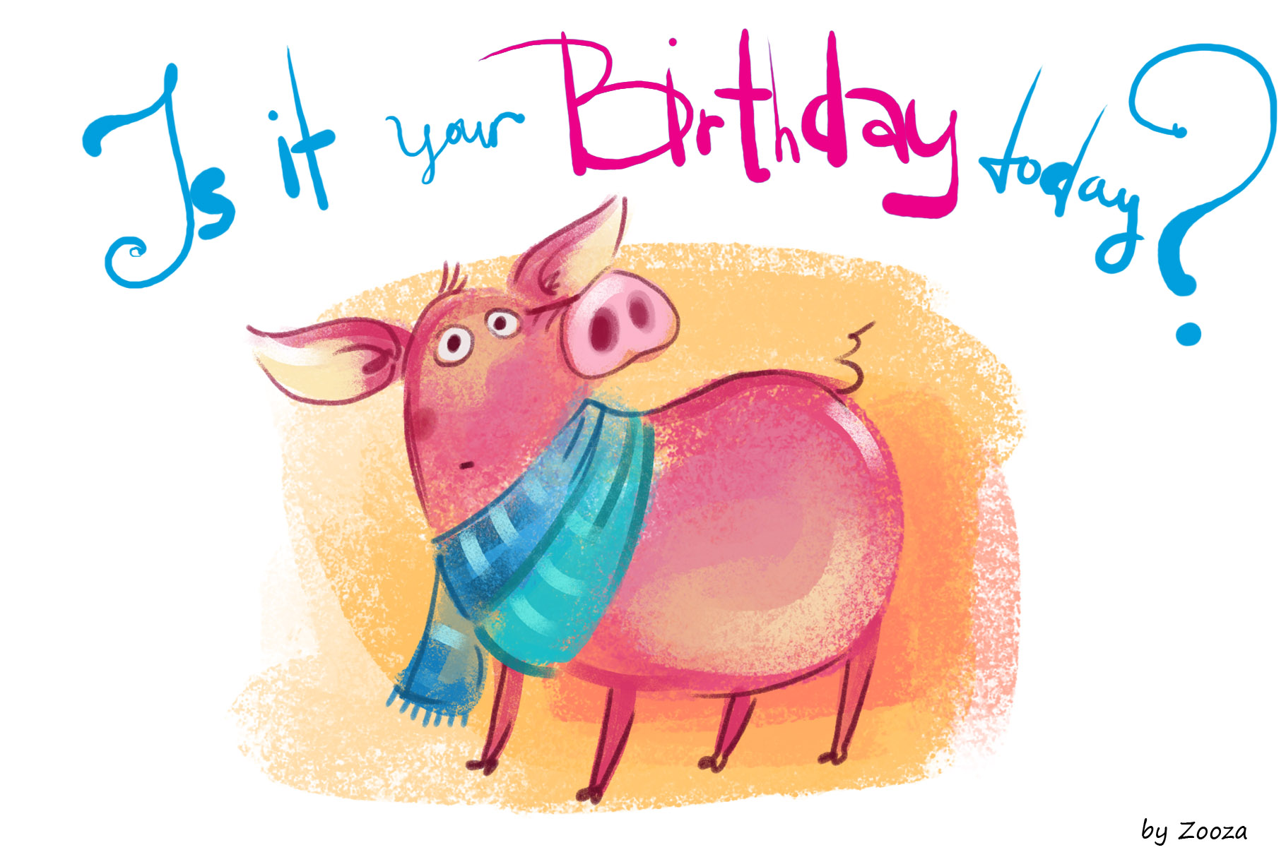 Piggy New Year - illustrations example image 4