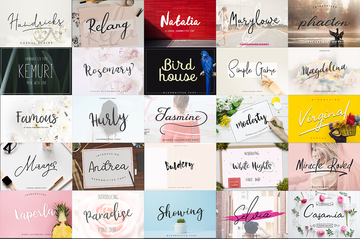38 IN 1 Font Bundle BIG SALE! example image 2