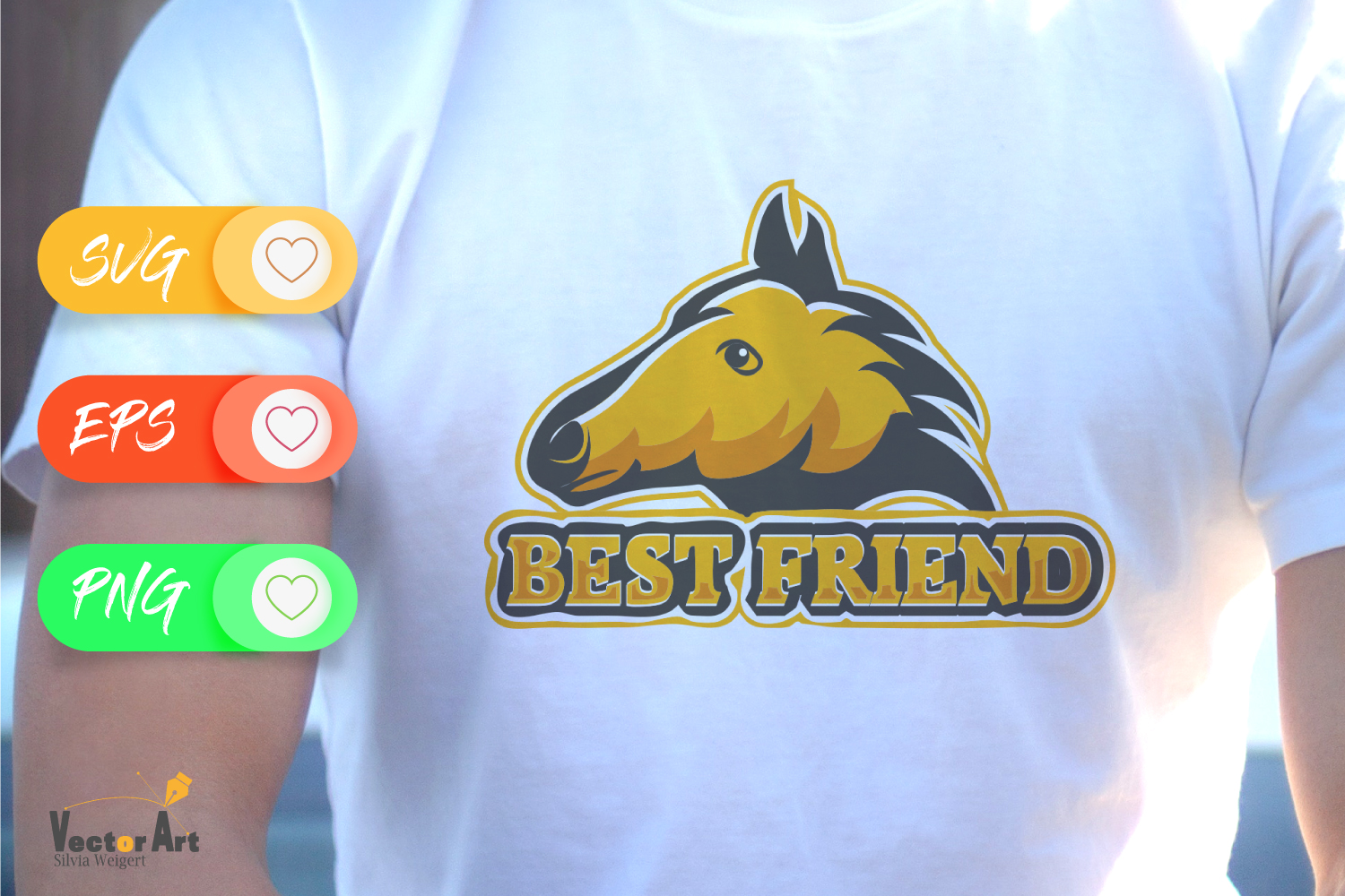 Horse head and saying - Best friend - Cutting or Sublimation example image 2