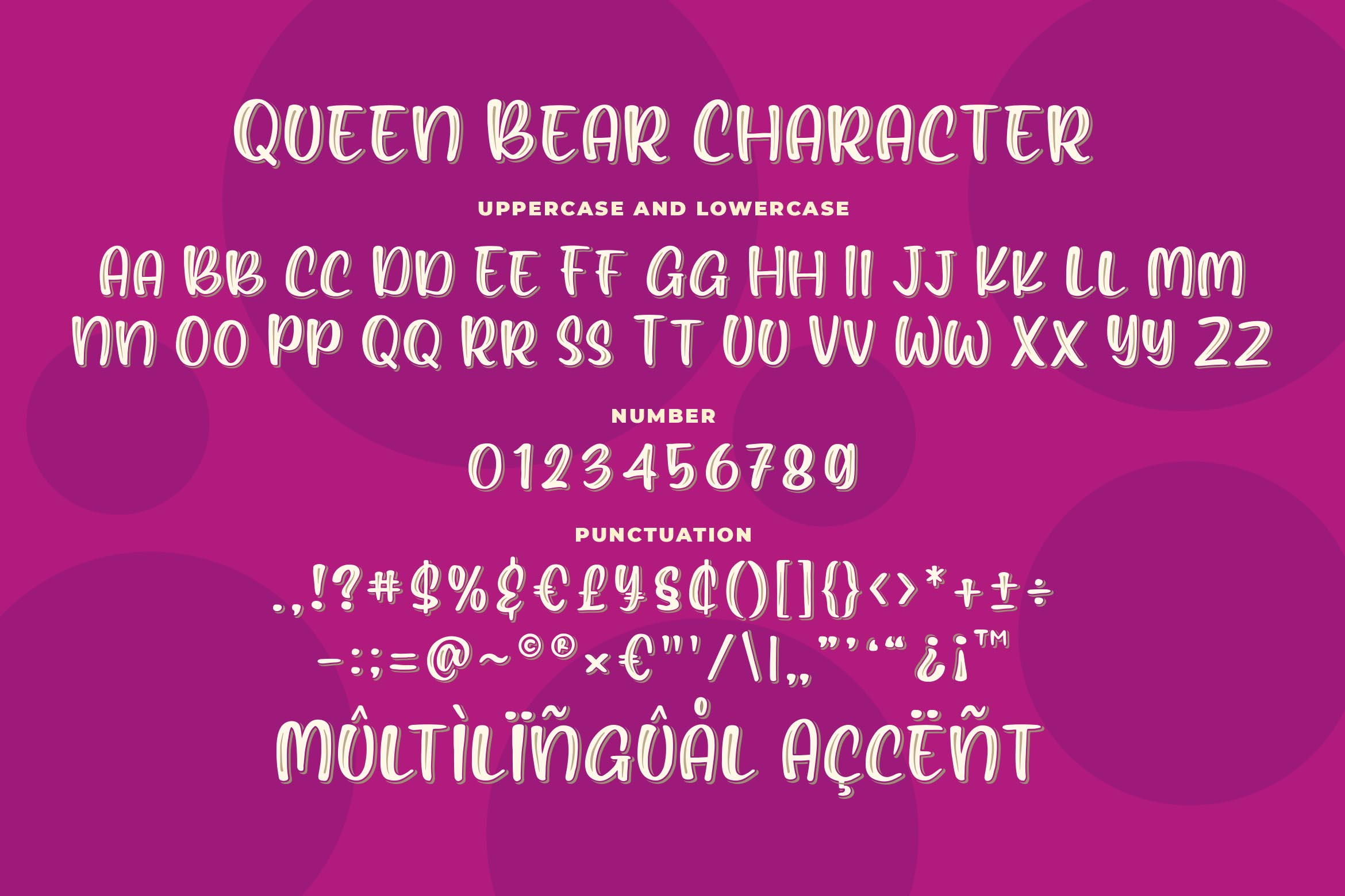Queen Bear - Quirky Layered Font example image 6