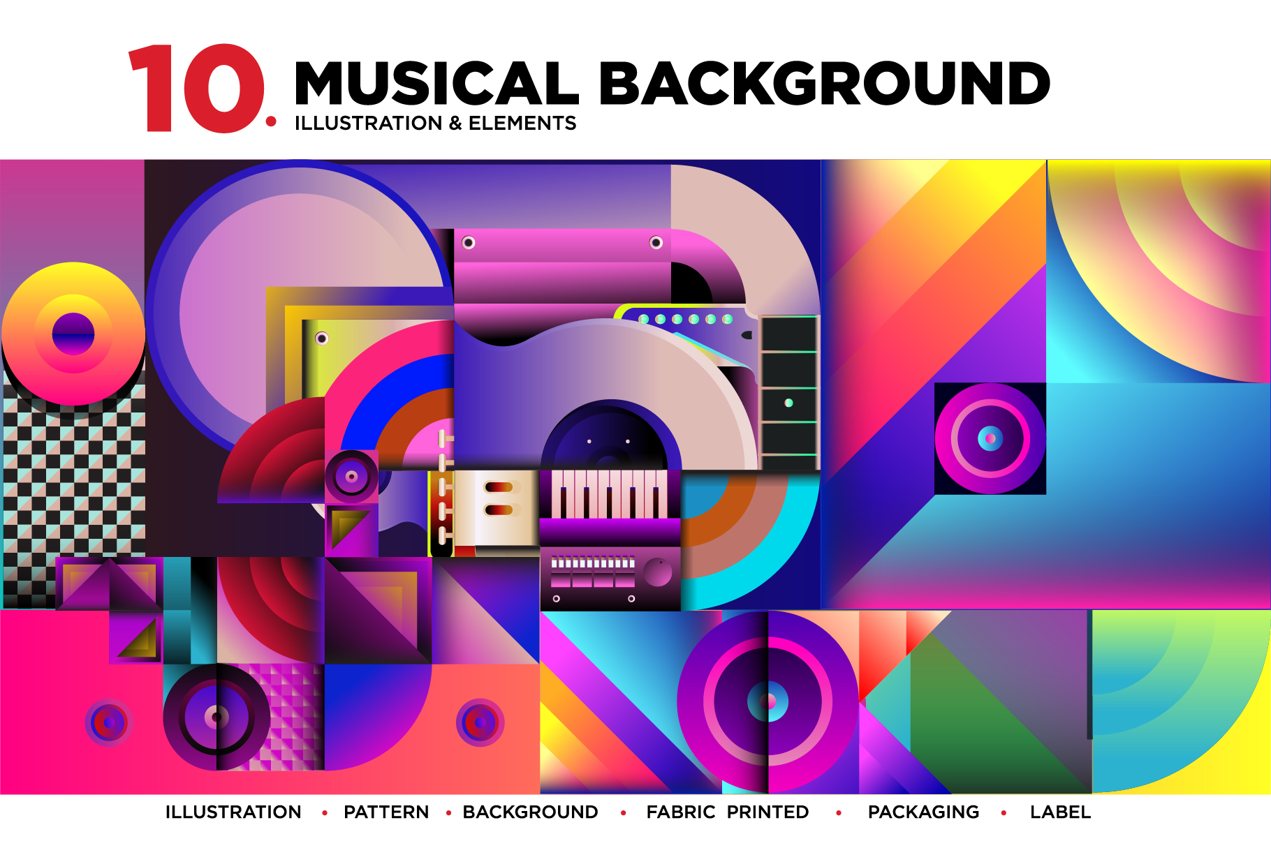10 Music Illustration Background example image 1