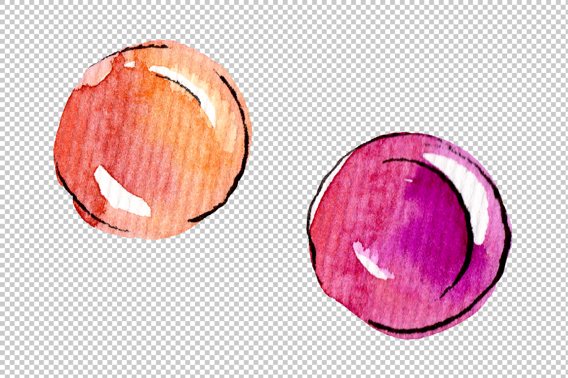 Candies aramel Watercolor png example image 4