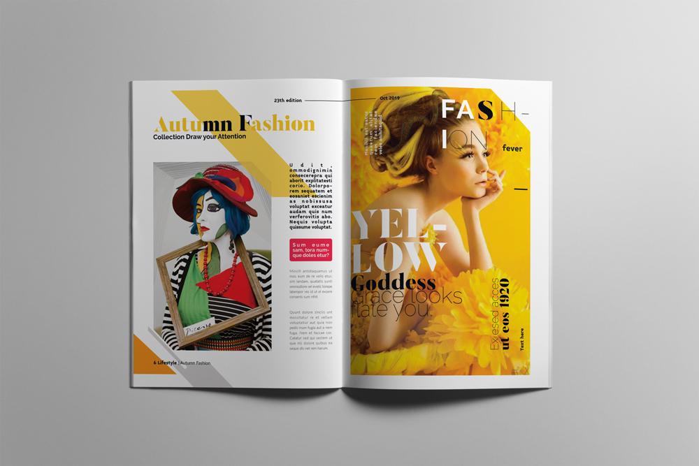 Fashion Magazine Layout Template example image 4