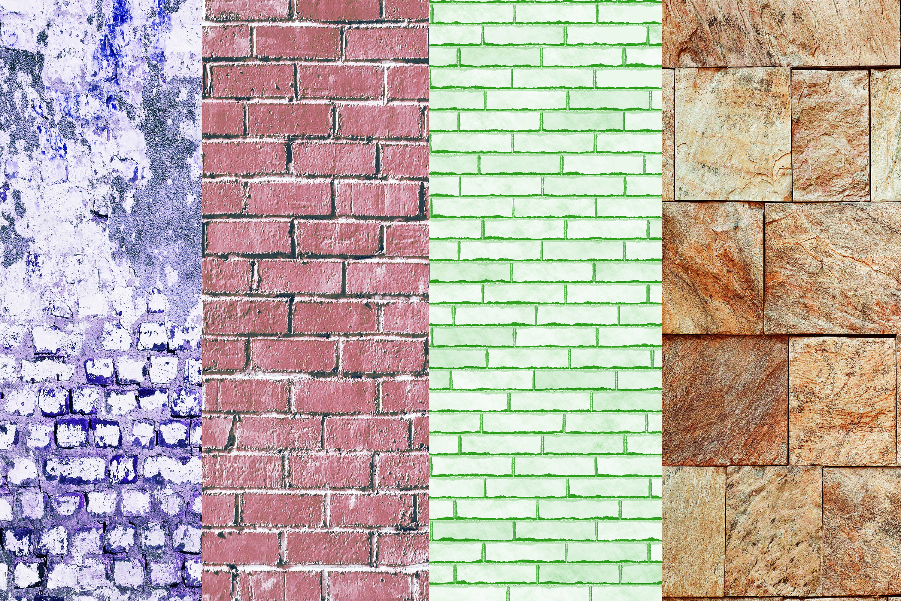 Brick Wall Digital Papers, Wall Textures example image 4