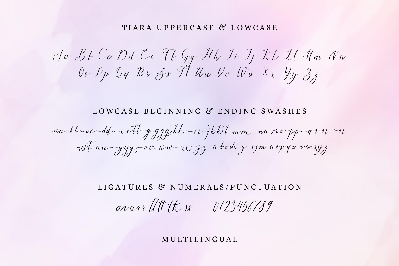 Tiara / modern calligraphy script example image 2