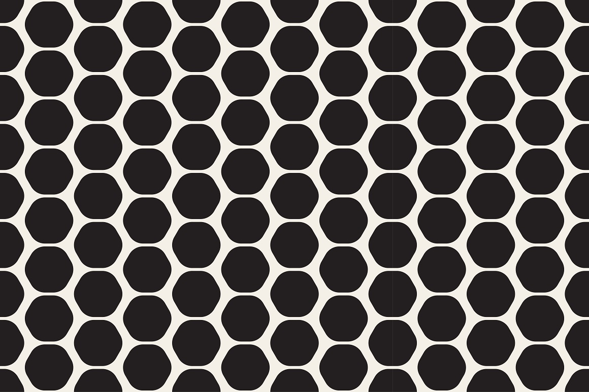 Seamless geometric patterns. 3 colors example image 9