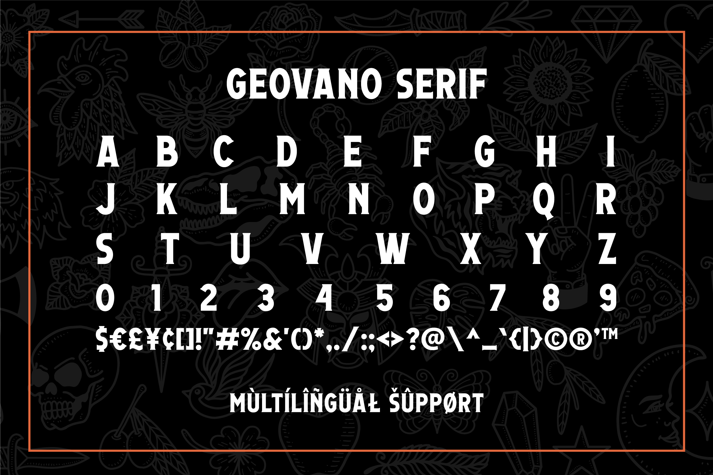 Geovano - Vintage Font Family example image 12