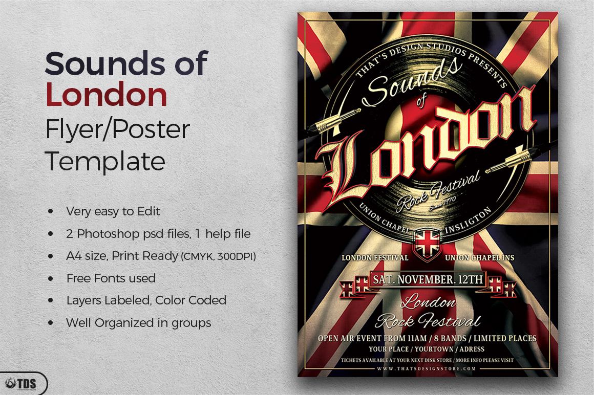Sounds of London Flyer Template example image 3